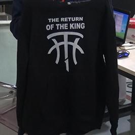 Μαύρο πουλόβερ εκτύπωση δείγμα από A2 t-shirt εκτυπωτή WER-D4880T