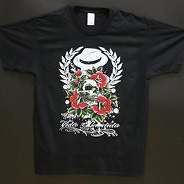 Μαύρο δείγμα εκτύπωσης t-shirt από τον ψηφιακό εκτυπωτή κλωστοϋφαντουργίας A1 WER-EP6090T
