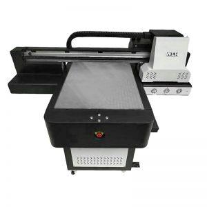 ψηφιακό uv επίπεδη inkjet άμεση εκτύπωση κλωστοϋφαντουργικών t t shirt DTG εκτυπωτή WER-ED6090T